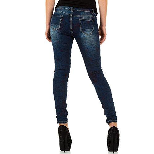Used Look Biker Skinny Jeans Für Damen , Blau In Gr. L/40 bei Ital-Design