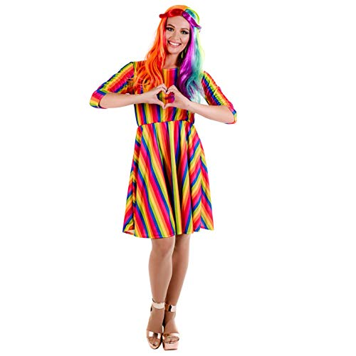 fun shack Women's, Rainbow Dress Large -