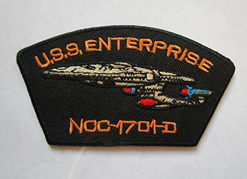 Star Trek USS Enterprise Military Patch Fabric Embroidered Badges Patch Tactical Stickers for Clothes with Hook & Loop]()