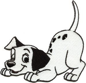 Disney 101 Dalmatians Dog Spot Embroidered Iron On Patch DS-215