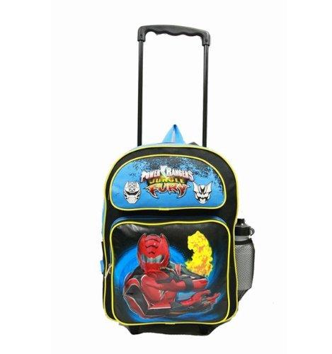Power Rangers Large Rolling Backpack Fury Fire New School Ba