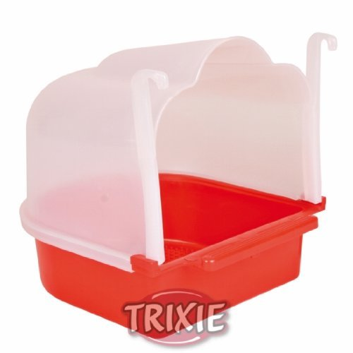 Trixie Small Bird Bath 15×17×18 Cm, Ideal For: Canary, Finch Or Budgie by Trixie