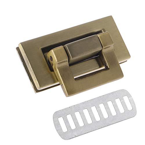 - LGQing Rectangle Shape Clasp Turn Lock Twist Lock DIY Leather Handbag Bag Hardware