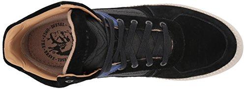 Diesel Heren V S-spaark Mid S Sneaker Zwart / Surfblauw