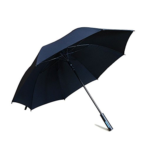 Inson Auto Open Windproof 54 inch Golf Umbrella Black (2-Pack)
