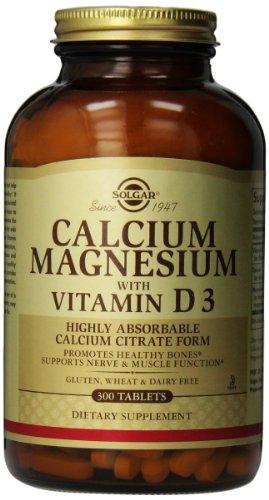 Solgar, magnesio calcio con vitamina D3, 300 tabletas