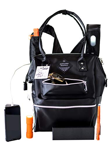 Bodyguard Backpack - 24 Feature - Travel Backpack for Women Converts to Tote Bag. Carry On Backpack for Travel - Anti Theft Design Includes Safety Gear