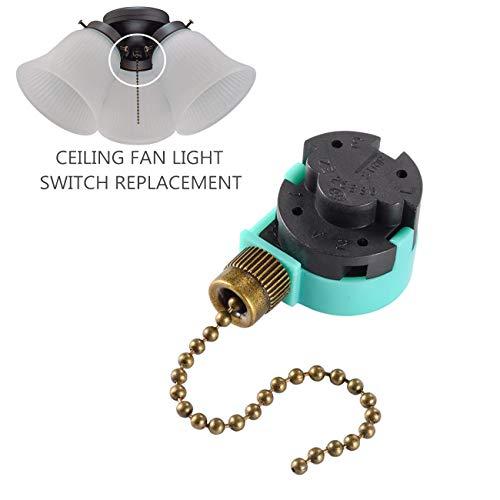 Hunter 3 Speed Fan Switch Zing Ear ZE-268S6, Ceiling Fan Pulls 4 Wire Ceiling Fan Switch for Zing Ear Ceiling Fan, Appliances (Bronze Pull Chain) -  RICHARDSON ANOINTING HANDS INC, 268S6-BRONZE-3