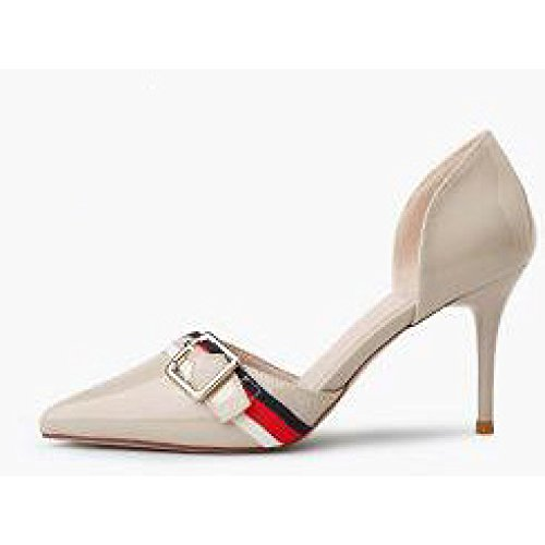 Mode LightGray Hauts Noir 3 Chaussures De 35 Femme Cour Talons 8cm Mariage EU Sexy UK Travail Atqwvgx
