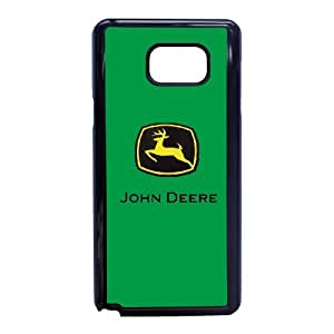 Custom Cell Phone Case Samsung Galaxy Note 5 Black Case Cover John Deere Logo 12QW4715824