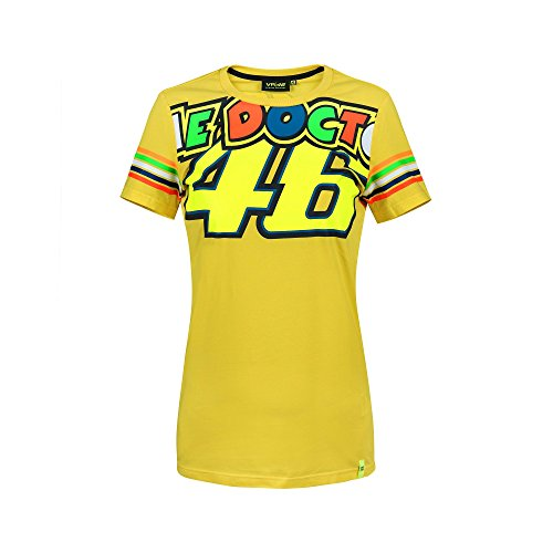 Valentino Rossi VR46 Moto GP The Doctor Stripes Women s T-Shirt Official  2018 f455a62774f7