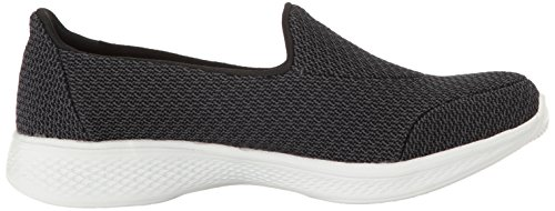 Donna Black Walk Nero Go Skechers Allenatori White 4 qwIBY7S