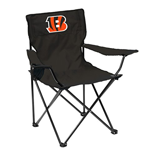 (Logo Brands 607-13Q NFL Cincinnati Bengals Quad Chair, One Size, Black)