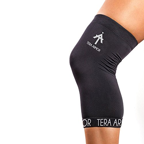 Compression Knee Sleeve made of 88% TOP QUALITY NYLON COPPER and 12% SPANDEX. #1 Knee Support Brace For Men And Women. GUARANTEED Joint Pain Relief, Arthritis and Injury Recovery (Sleeve Compression Top)