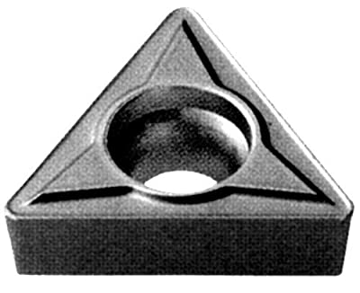 """Cobra Carbide 41364 Solid Carbide Turning Insert, C550 Grade, Uncoated (Bright) Finish, TPGB Style, TPGB 321, 1/8"""" Thick, 1/64"""" Radius (Pack of 10)"""