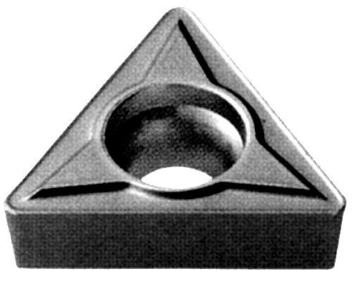 Cobra Carbide 40931 Solid Carbide Turning Insert, C550 Grade, Uncoated (Bright) Finish, TCMT Style, TCMT 21.51, 3/32'' Thick, 1/64'' Radius (Pack of 10) by Cobra Carbide