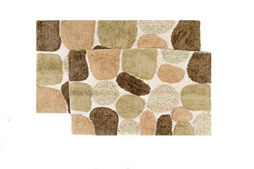 "Chesapeake Pebbles 2Pc. Khaki Bath Rug Set 26650 (21""x34"" & 24""x40"")"