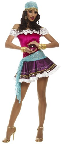 Ladies Sexy Fortune Teller Adult Halloween Costume (Large 12-14) ()