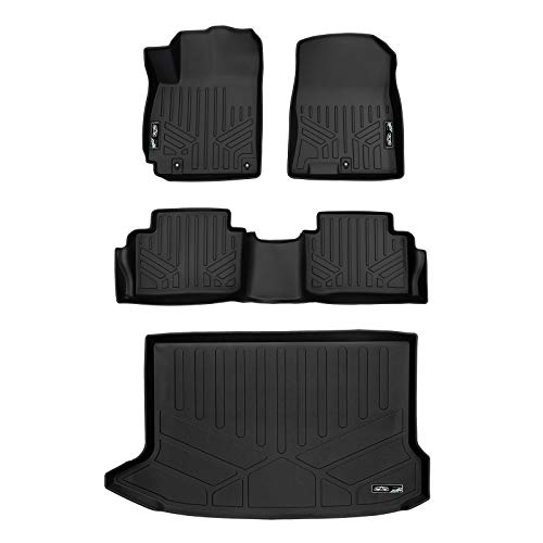 MAX LINER A0371/B0371/D0371 Custom Fit Floor Mats 2 Rows and Cargo Liner Set Black for 2018-2019 Hyundai Kona - No Electric ()