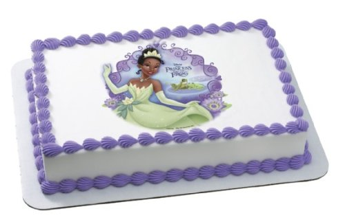Princess & Frog Tiana Bayou Personalized Edible Image Cake Topper