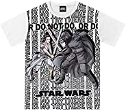 Camiseta Camiseta Star Wars, Fakini, Meninos, Branco, 4