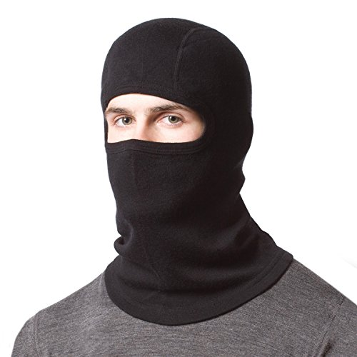 Minus33 Merino Wool Expedition Balaclava, Black, One Size