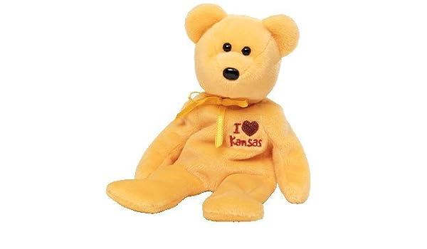 8ffbdd81edd Amazon.com  TY Beanie Baby - KANSAS the Bear (I Love Kansas - State  Exclusive)  Toys   Games