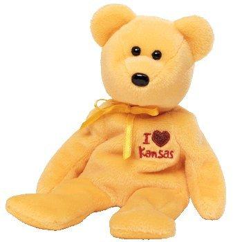 TY Beanie Baby - KANSAS the Bear (I Love Kansas - State Exclusive)