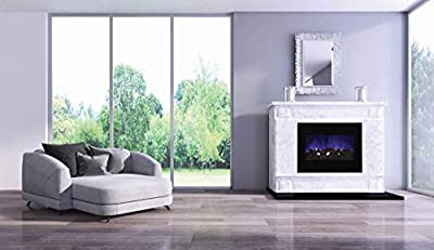 Amantii Zero Series Built-in Flush Mount Electric Fireplace (ZECL-30-3226-FLUSHMT-BG), 30-Inch
