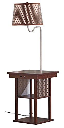 Galleon Rivet Hudson Mid Century Brass Floor Lamp 58 5