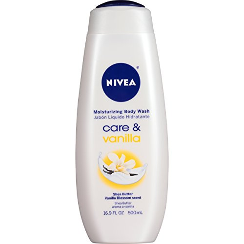 NIVEA Care and Vanilla Moisturizing Body Wash 16.9 Fluid Ounce (Pack of 3)