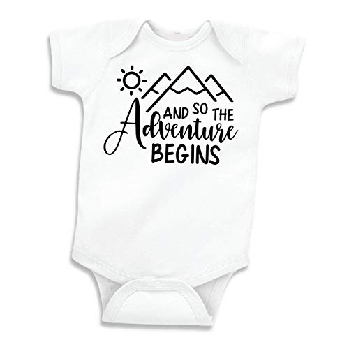 Baby Announcement Gift for Dad, Grandpa or Grandma (White, 0-3 Months)