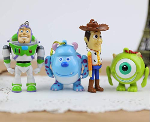 Astra Gourmet 4-Pack Toy Story Keychain Figure/Key Chain Dangler/Great Gift