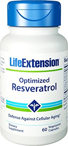 41WpKjFx5nL - Life Extension Optimized Resveratrol, 60 Vegetarian Capsules