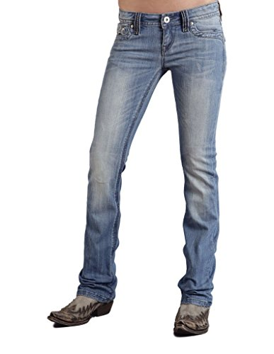 Pkt Flap - Stetson 0818 Ladies New Contemporary Boot Cut Jean Flap Back Pkt W/Hea 00 2X