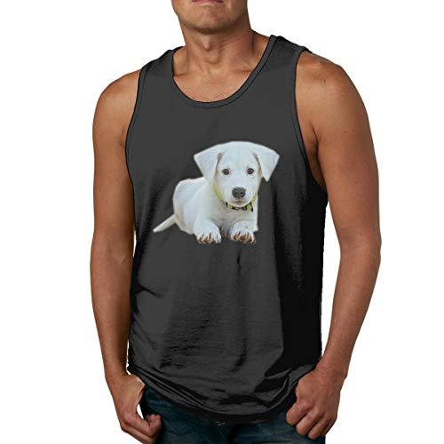 Men's Tank Tops Gym Vests Shirt Dog Puppy Bodybuilding Workout Vest 29 Black