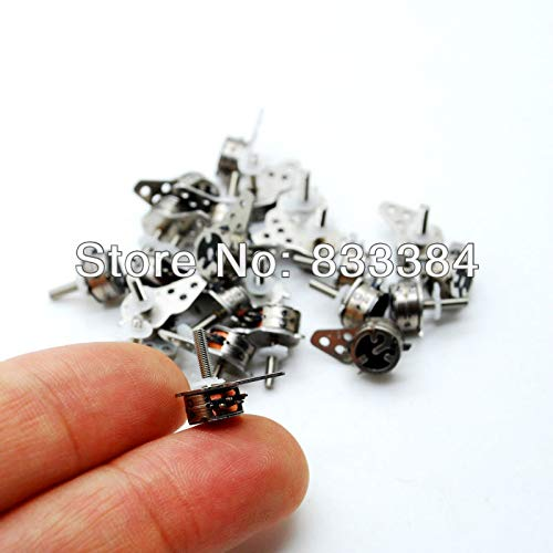 Laliva Tool New 10pcs JapanNidec4 Wire 2 Phase Micro Stepper Motor D7xH4mm with a Small Division bar for Camera