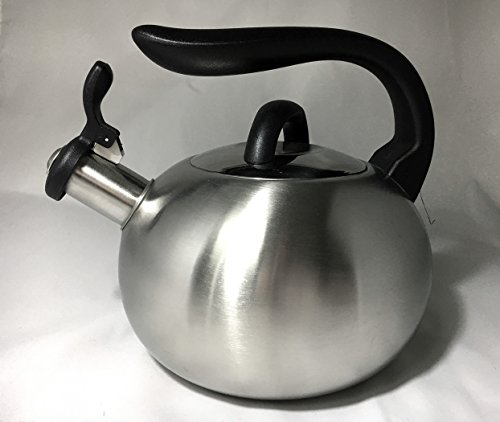 2.7 Liter Stainless Steel Whistling Tea Kettle With Black Handle