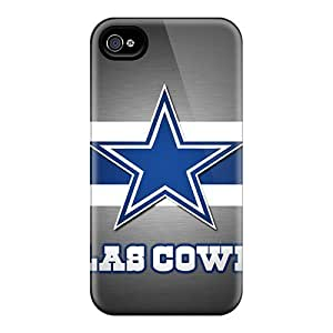 Hard Plastic Iphone 4/4s Cases Back Covers,hot Dallas Cowboys Cases At Perfect Customized