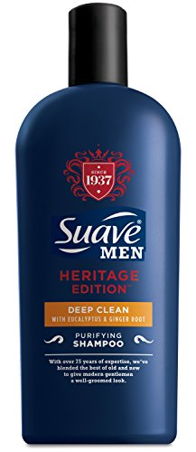 Suave Men Deep Clean Shampoo, with Eucalyptus and Ginger Root,  12 Ounce