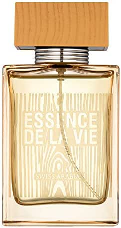Essence De La Vie, Perfume for Men 100mL | Mouthwatering Green Apple, Italian Lemon and Mint Oriental-Woody Eau De Toilette | Pour Homme by Fragrance Artisan Swiss Arabian | Fresh Cologne Spray