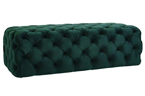 TOV Furniture The Kaylee Collection Modern Style Living Room Jumbo Velvet Upholstered Button Tufted Ottoman, (Oversized Sleeper Chair)