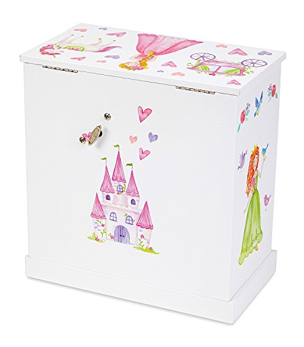 JewelKeeper Unicorn Musical Jewelry Box with 3 Pullout Drawers, Fairy Princess and Castle Design, Dance of the Sugar Plum Fairy Tune by JewelKeeper (Image #4)