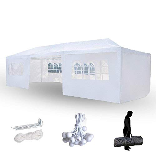 - Crazyworld 10' x 30' Outdoor Canopy Wedding Party Tent with 8 Removable Sidewalls, Sun Shelter SHED Gazebo Pool Event Tent, Bonus A Carrying Bag and Other Gifts