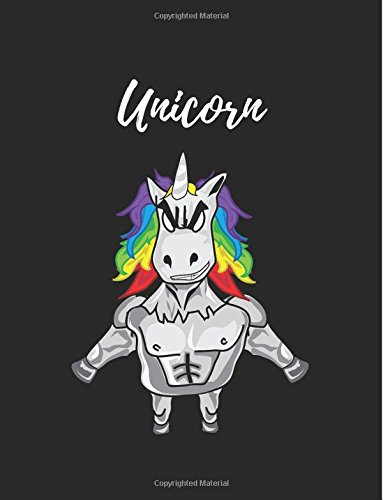 Unicorn: notebook, journal, unicorn, unicorn be brave cover in black ebook