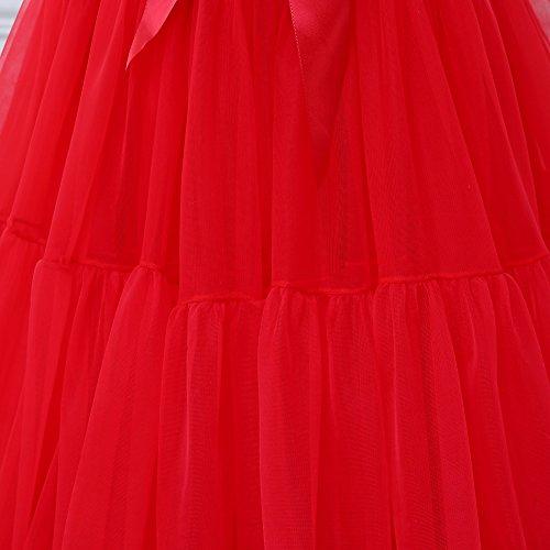 Rojo Las Danza Mujeres Ballet Enagua Para Folobe Tutú De Adultos 1 Lujo Suave La Hinchada Multi Falda capa EqCXEaw