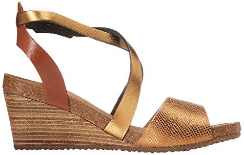 Kickers Spagnol - Sandalias de Vestir de cuero mujer Marrón (Bronze)