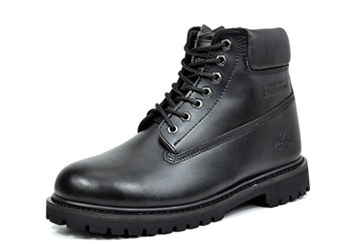 Black Leather Work Boots (Arctiv8 Men's JOB-01 Black Full-Grain Leather Work Boots - 10.5 M US)