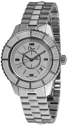 Christian Dior Women's CD113111M001 Christal Diamond White Dial Watch