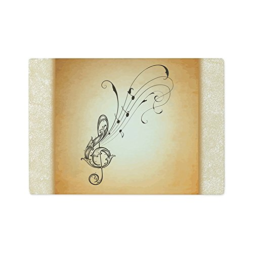 - Glass Cutting Board Musician Treble Clef Music Notes